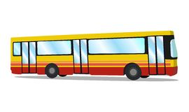 City bus. Tourist coach. Vector illustration royalty free stock photography