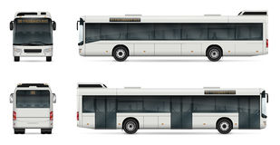 City bus vector template Stock Image