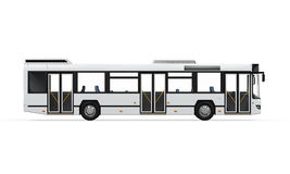 City Bus. On white background. 3D render Stock Photo