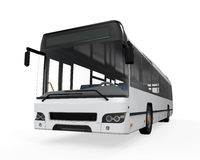 City Bus. On white background. 3D render Royalty Free Stock Photo