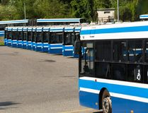 City buses / Public transport. In Krakow Royalty Free Stock Photo
