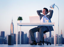 City Business Businessman Success Freedom Concept Royalty Free Stock Image