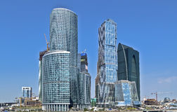 City business center Moscow Royalty Free Stock Photos