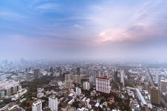 City of business. Cityscape before the sun go down Royalty Free Stock Image