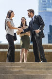City Business Man Woman Team Shaking Hands Stock Images