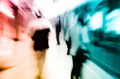 City business passenger blur Royalty Free Stock Photography
