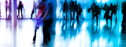 City business people abstract. Background blur motion Stock Images