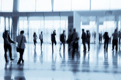 City business people abstract. Background blur motion Royalty Free Stock Images