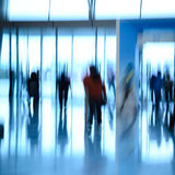 City business people abstract background. Blur motion Stock Photo