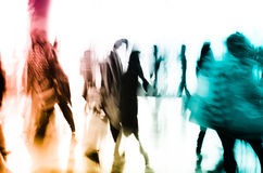 City business people abstract background. Blur motion Stock Photos