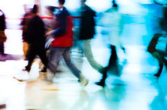 City business people running abstract. Background blur motion Royalty Free Stock Images