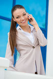 City business woman working. Royalty Free Stock Photos