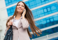 City business woman working. Royalty Free Stock Images