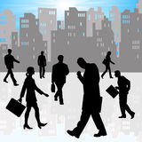 City businessmen and women Royalty Free Stock Image