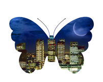 City butterfly Royalty Free Stock Images