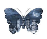 City butterfly Royalty Free Stock Image