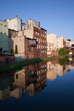 City of Bydgoszcz from Mill Island in Poland Stock Photography