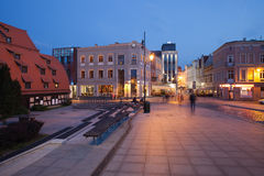 City of Bydgoszcz in Poland by Night Stock Photography