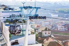 City cable cars royalty free stock photos