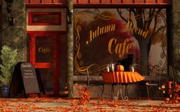 Autumn Blend Cafe vector illustration