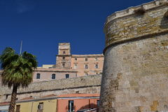 City of Cagliari, Sardinia, Italy. View of the old centre. Royalty Free Stock Images
