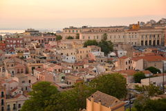 City of Cagliari, Sardinia, Italy. View of the old centre. Stock Image