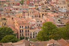 City of Cagliari, Sardinia, Italy. View of the old centre. Stock Photos