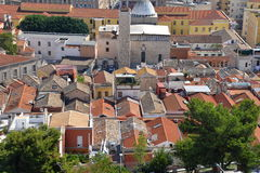 City of Cagliari, Sardinia, Italy. View of the old centre. royalty free stock image