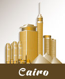 City of Cairo Egypt Famous Buildings. Editable Vector Illustration royalty free illustration
