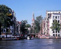 City canals, Amsterdam. Stock Image