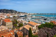 City of Cannes in France Royalty Free Stock Images