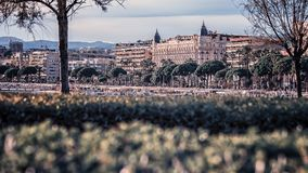 City of Cannes on the French Riviera. September 2017 - Cannes, France - Cannes and thoses hotels Royalty Free Stock Photo
