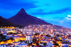 City of Cape Town, South Africa. Cape Town is the second largest city in South Africa and is the capital of the Western Cape Province Stock Image