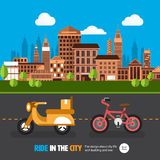City car Royalty Free Stock Image