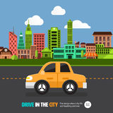 City car Royalty Free Stock Images