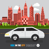 City car Royalty Free Stock Photos