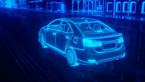 City car structure overview in wire style Stock Photo