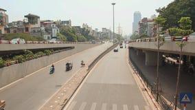 City car traffic in Hanoi stock video footage