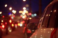 City car traffic jams Stock Images