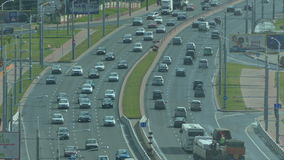 City car traffic. Minsk, Belarus stock footage