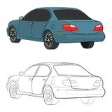 City car vector drawing illustration stock photos