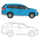 City car vector drawing illustration stock photography