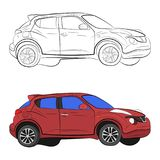 City car vector drawing illustration royalty free stock image