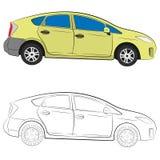 City car vector drawing illustration royalty free stock photos