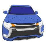 City car vector drawing illustration stock image