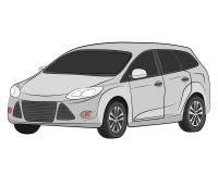 City car vector drawing illustration royalty free stock photo