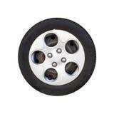 City car wheel, light alloy disc isolated Royalty Free Stock Photography