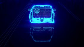 City car Wireframe View - conceptual vector illustration