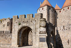City of Carcassonne - Aude France. View of the ramparts of the city of Carcassonne - Aude France royalty free stock photos