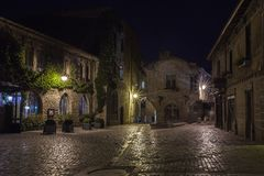City of Carcassonne at night Royalty Free Stock Photography